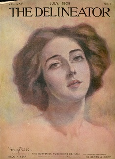 Madeline Stokes on the cover of The Delineator, 1905