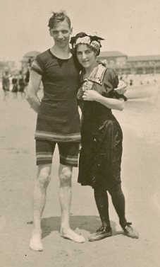 Albert F. Snyder and Amanda Straw at Atlantic City, NJ, 1912