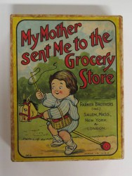 "Game ""My Mother Sent Me to the Grocery Store,"" made by Parker Brothers, c. 1902"