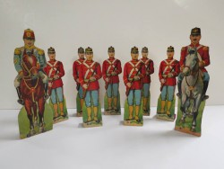 Paper and wooden soldiers, early 20th century