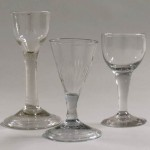 Wine glasses, attributed to the American Flint Glass Manufactory, 1765-1775