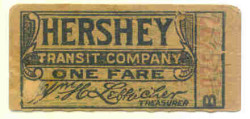 Trolley Ticket, 1913-1929. One fare cost 5 cents.