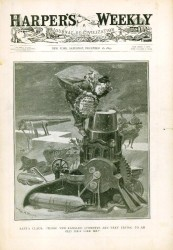 Harper's Weekly from December 16, 1899 featuring an illustration depicting Santa Claus done by one of the political cartoonists of the time, W.A. Rogers