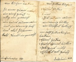 Lebkuchen Recipe, 1830, handwritten in German