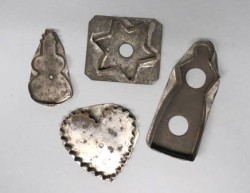 Cookie Cutters, 1825-1875, used to create Christmas cookies, including the traditional Pennsylvania German cookie lebkuchen