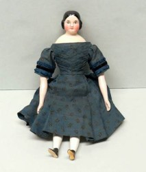 Doll, 1838-1848. Little girls may have received a doll like this at Christmas time.