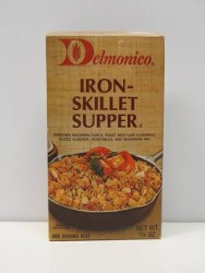 Delmonico Iron Skillet Supper Box, c. 1980