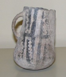 Black-on-White Mug, Pueblo, Prehistoric