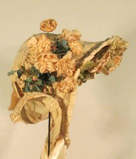 Wedding bonnet, 1852